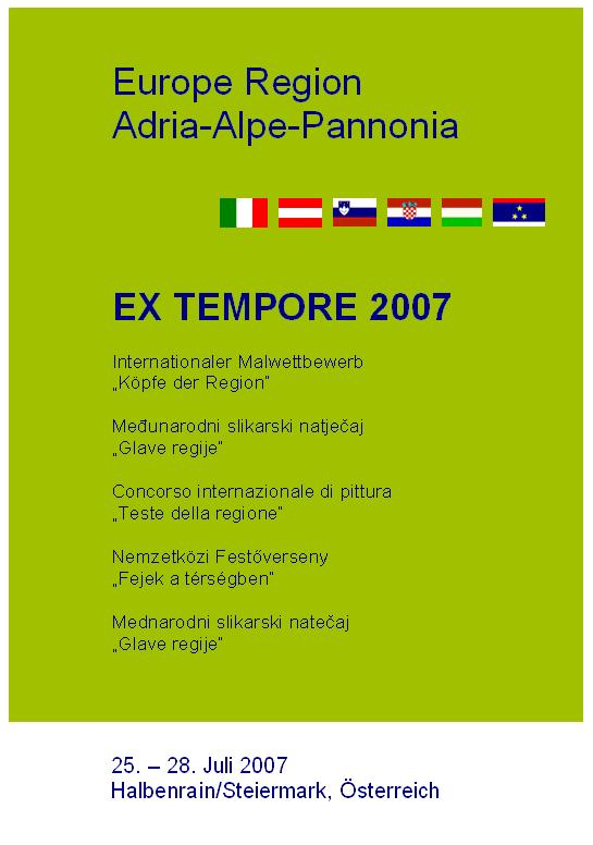 Ex Tempore 2007 - Internationaler Malwettbewerb Halbenrain