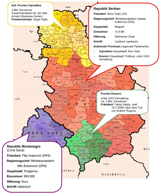 Jugoslawien Karte Früher.Serbien Und Montenegro Www Europa Steiermark At Europa Land